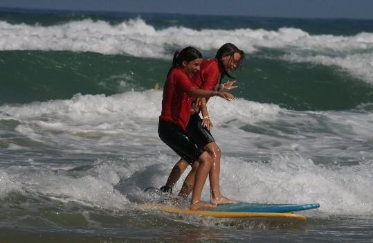 surf à la plage du Kérou