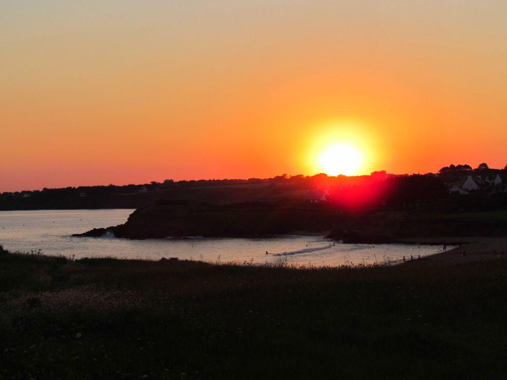 coucher de soleil plage des grand sables